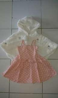 Dress Pink + White Outer