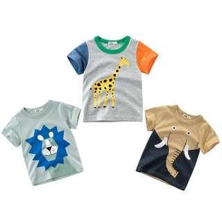 🚚 Lovely Animals Cotton Tshirt