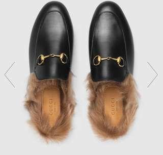 Gucci Leather Princetown Slipper/Loafer