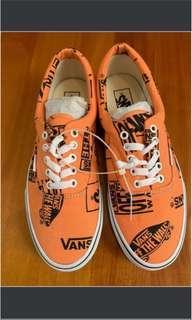 Vans shoe neon orange 休閒鞋全新螢光橙 男9號, 女10.5號 men size US9, women size US10.5