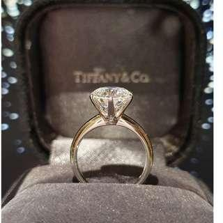 3 Carats Moissanite Diamond Ring Classic Design 18K White Gold
