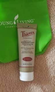 Young Living aromabright thieves toothpaste