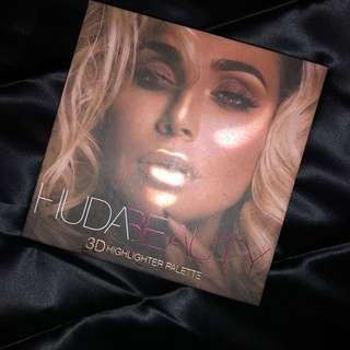 Huda Beauty 3D highlighter Pink Sands