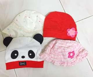 4 Pieces Baby Hats