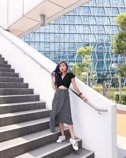 TEM stripes skirt