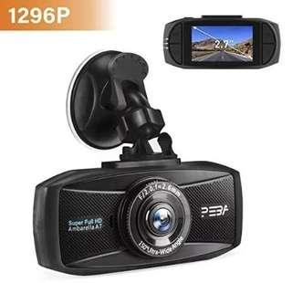 (E1233) Dash Cam 1296P Full HD Night Vision Car camera PEBA 2.7 Inch LCD Screen HDR Motion Detection, Parking Monitor, Loop Recording and G-Sensor