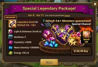 Summoners war special pack