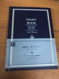 深藍硬皮筆記簿 記事本 日記