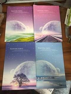 A5 記事簿 月球風景 (共四本)