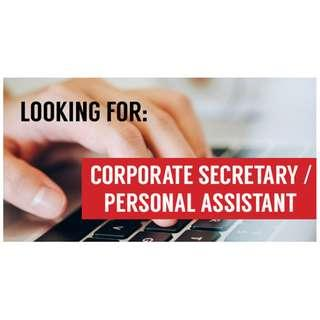 Wanted! Corporate Secretary / Personal Assistant