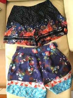 ASOS vintage style floral print shorts high waist