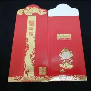 2 pcs front and back 2016 Acson red packets packet angpow ang pao pau pow new