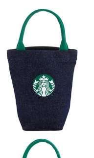 🛍台灣代購 台灣直送   Starbucks [星巴克]丹寧女神隨行杯袋