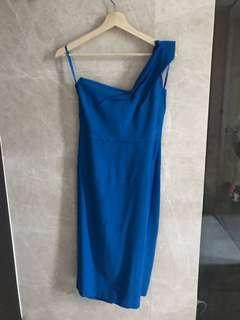 $200 Designer Blue structured dress (Uk 10)