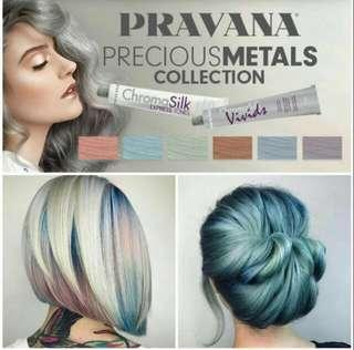 🚚 Pravana ChromaSilk Vivids Silver hair color dye 90ml