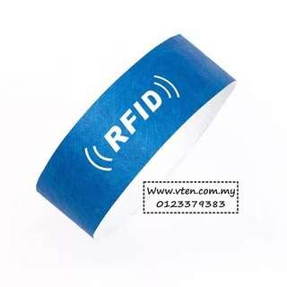 [Pre Order] Custom made Tyvek Paper Wristband With RFID Chip Customized Logo (Not Real Price)