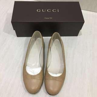 BEST DEAL! Gucci Guccissima Logo Embossed Leather Flats (Branded) (Authentic) (Sepatu Wanita)