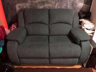 2 seater sofa with leg rest