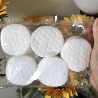 double sided round cotton pads