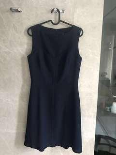 $200 Adolfo Dominquez baby sweetheart navy dress (UK10)