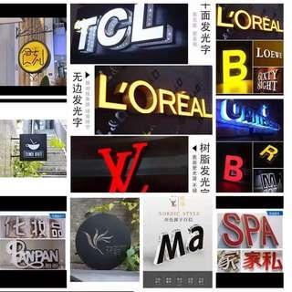 signage  signboard LED lightbox backlit lightbox  large poster