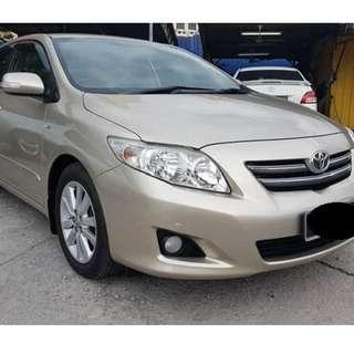 Toyota Altis available for rent 6am - 6pm (Grab / Gojek) ready