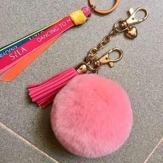 毛毛球匙扣