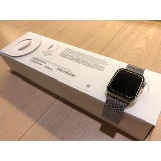 Apple Watch Series 4銀色不鏽鋼錶殼配銀色鋼織手環(44mm, GPS+LTE) 99% New