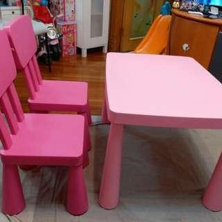 IKEA 兒童枱櫈 Kids Table and Chairs