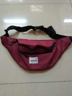 Waist bag buffers maroon tas selempang