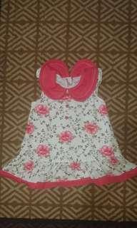 Slim Red Flower Dress