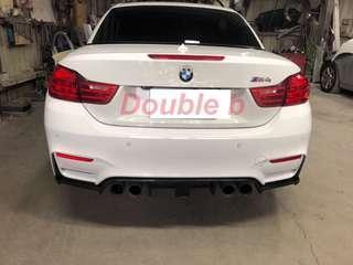 Double b BMW F80 F82 F83 M3 M4 Kholen 採抽真空製造 卡夢 後下巴 100%密合度