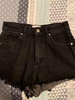 Black denim A Brand shorts