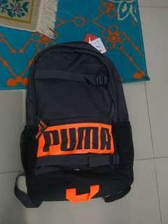 Puma Deck Backpack Asphalt In Orange