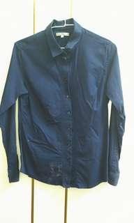 🚚 OL藍色上衣