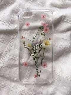 (PENDING) iPhone 6s flower case transparent pressed flowers