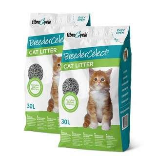 2 Bags of Breeders Celect Cat Litter 30L package