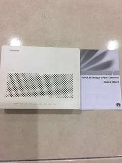 Huawei echolife bridge gpon terminal