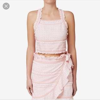Seed pink wrap skirt