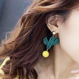 🚚 仙人掌耳環