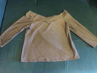 Zalora off shoulder blouse