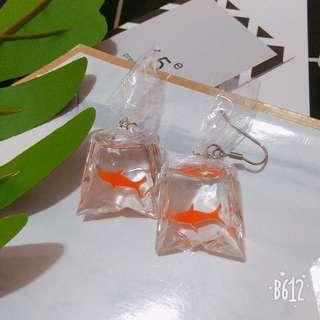 🚚 金魚耳環 耳飾 日系