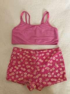 PINK SWIMMING OUTFIT