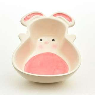 Ceramic Food Bowl (Bunny / Carrot Shape)