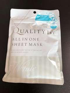 (全新)Quality 1st all in one 美白mask