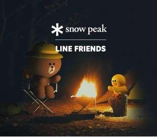 Line Friend x Snow peak 野外套裝