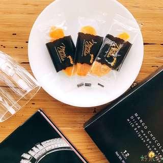🔥Philippine Brand Mango Chocolate 芒果乾巧克力禮盒✨12入裝