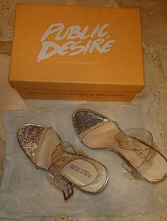 Clear block heels
