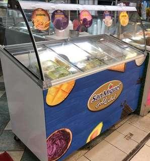 Ice Cream Scooping Freezer