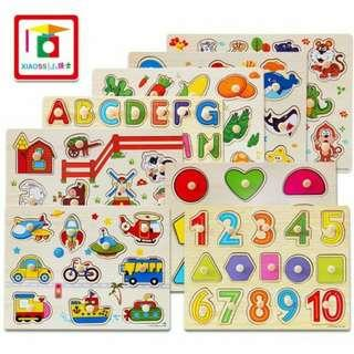 Educational Wooden Puzzle for Kids (17 Design)